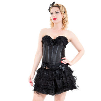 Korsett a Rock Damen HEARTS AND ROSES - Black Corset With Skirt, HEARTS AND ROSES
