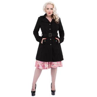 Mantel Damen für Frühling/Herbst HEARTS AND ROSES - Black Black Flocking, HEARTS AND ROSES
