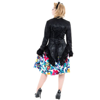 Jacke Damen Frühling/Herbst HEARTS AND ROSES - Black Victorian Brocade, HEARTS AND ROSES