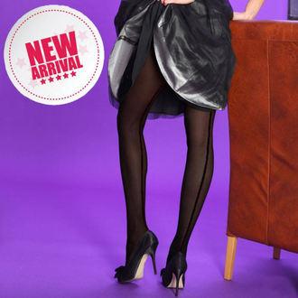 Strumpfhose LEGWEAR - undurchsichtig seamer- Black with black seam , LEGWEAR