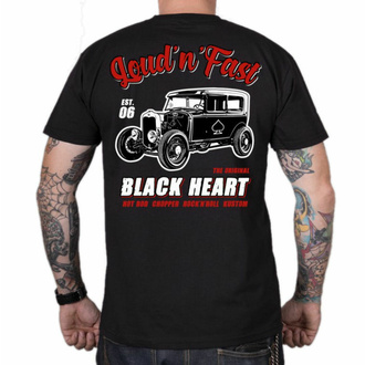 Herren T-Shirt BLACK HEART - HOT ROD A - SCHWARZ, BLACK HEART