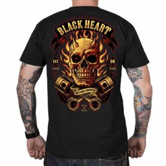 Herren T-Shirt BLACK HEART - HELL BOY - SCHWARZ, BLACK HEART