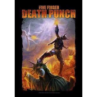 Fahne Five Finger Death Punch - Battle Of The God, HEART ROCK, Five Finger Death Punch