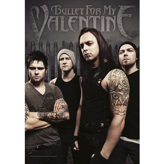 Fahne Bullet For My Valentine - Band Foto , HEART ROCK, Bullet For my Valentine