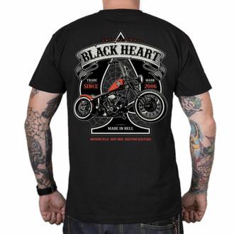 Herren T-Shirt BLACK HEART - ORANGE CHOPPER - SCHWARZ, BLACK HEART