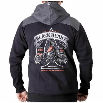 Herren-Kapuzenpullover BLACK HEART - ORANGE CHOPPER, BLACK HEART