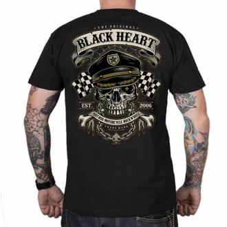 Herren T-Shirt BLACK HEART - OLD SCHOOL RACER - SCHWARZ, BLACK HEART