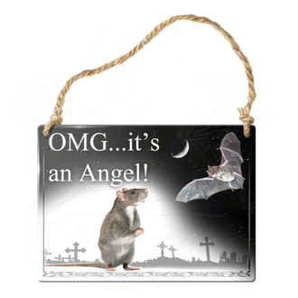 Schild ALCHEMY GOTHIC - OMG Its A Angel, ALCHEMY GOTHIC