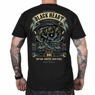 Herren T-Shirt BLACK HEART - Bandana BOY - SCHWARZ, BLACK HEART