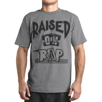Herren T-Shirt  FAMOUS STARS & STRAPS - Raised On Rap, FAMOUS STARS & STRAPS