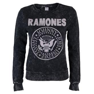 Frauen Hoodie Ramones - Macrame Sweat - BLK - AMPLIFIED, AMPLIFIED, Ramones