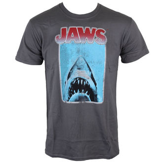Herren T-Shirt Jaws - Poster - Charcoal - INDIEGO, INDIEGO