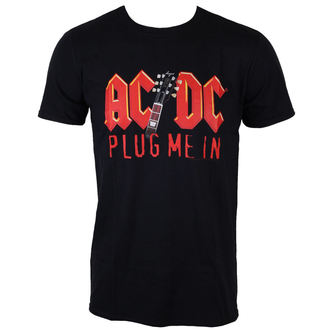 Männer Shirt AC/DC - Plug me in with Angus Young - BLK - LOW FREQUENCY, LOW FREQUENCY, AC-DC