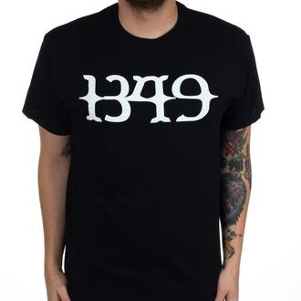Herren T-Shirt 1349 - White Logo - Schwarz - INDIEMERCH, INDIEMERCH, 1349