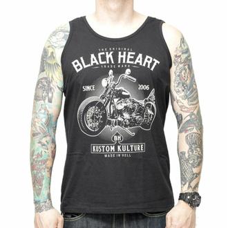 Herren Tanktop BLACK HEART - MOTOR CYCLE - SCHWARZ, BLACK HEART