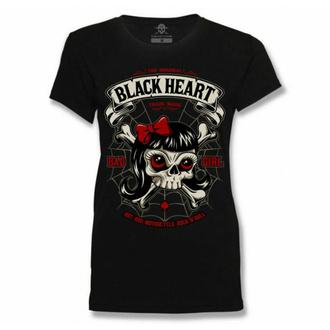 Damen T-Shirt BLACK HEART - LADY LUCK - SCHWARZ, BLACK HEART