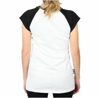 Damen T-Shirt BLACK HEART - PIN UP SKULL - WEISS, BLACK HEART