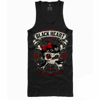 Damen Tanktop BLACK HEART - LADY LUCK - SCHWARZ, BLACK HEART