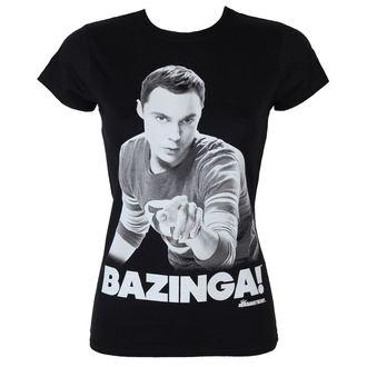 Damen T-Shirt The Big Bang Theory - Sheldon Says Bazinga - Black - HYBRIS, HYBRIS, Teorie velkého třesku