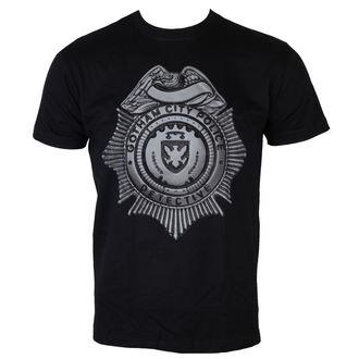 Herren T-Shirt Gotham - Detektiv Shield - Black - HYBRIS, HYBRIS, Gotham