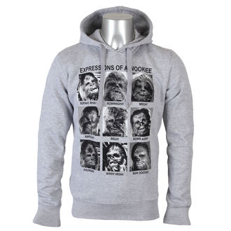 Hoodie Men Star Wars - Expression Of a Wookie - Grey Melange - LEGEND - MESWCHESW003