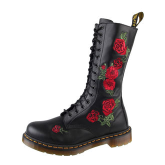 Schuhe DR. MARTENS - 14 Loch - Black Buttero - DR001