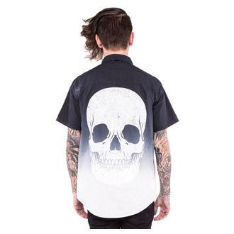 Männer Hemd IRON FIST - Death Breath - Dip Dyed - Black/White, IRON FIST