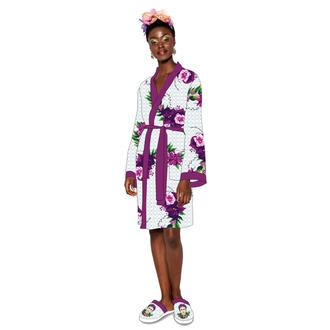 Bademantel Frida Kahlo - Violet Bouquet, NNM