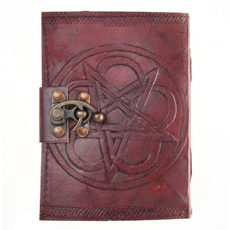 Notizblock Pentagram Leather Embossed Journal & Lock - NENOW - D1024C4