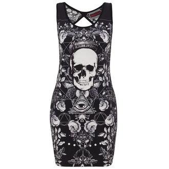 Kleid Ladies JAWBREAKER - BLK/WHT Skull, JAWBREAKER