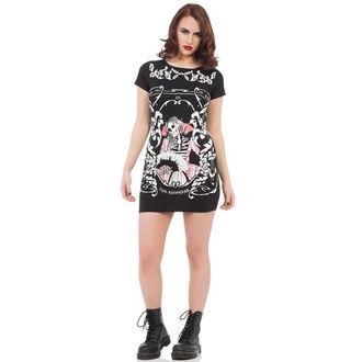 Kleid Ladies VOODOO VIXEN - Blk Skeleton, JAWBREAKER