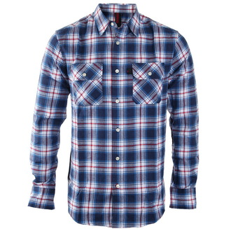 Herren Langarmhemd INDEPENDENT - Faction Blue Check, INDEPENDENT