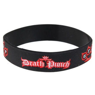 Gummiarmband Five Finger Death Punch - Logo - ROCK OFF, ROCK OFF, Five Finger Death Punch