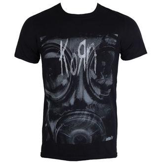 Herren Metal T-Shirt Korn Gas Mask PLASTIC HEAD PH10075, PLASTIC HEAD, Korn