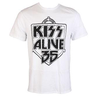 Herren T-Shirt KISS - ALIVE 35 - WEISS - AMPLIFIED, AMPLIFIED, Kiss