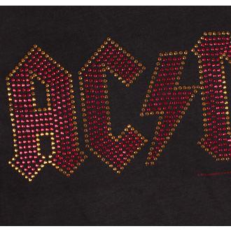 Herren T-Shirt AC-DC CLASSIC LOGO CHARCOAL RED AMPLIFIED AV210ACS, AMPLIFIED, AC-DC