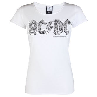 Damen Metal T-Shirt AC-DC - LOGO WHITE BLACK - AMPLIFIED, AMPLIFIED, AC-DC