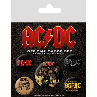 Abzeichen AC / DC (Logo), PYRAMID POSTERS, AC-DC
