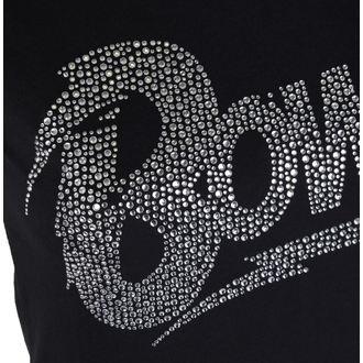 Damen Metal T-Shirt David Bowie - Flash Logo - ROCK OFF, ROCK OFF, David Bowie