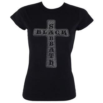Damen Metal T-Shirt Black Sabbath - Cross - ROCK OFF, ROCK OFF, Black Sabbath