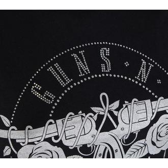 Damen Metal T-Shirt Guns n Roses - Circle Logo - ROCK OFF, ROCK OFF, Guns N' Roses