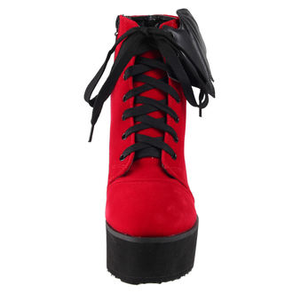 Keil Stiefel - Bat Wing Boot Red Velvet - IRON FIST, IRON FIST