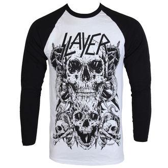 Herren Lomgsleeve Slayer - Skulls Raglan - ROCK OFF, ROCK OFF, Slayer