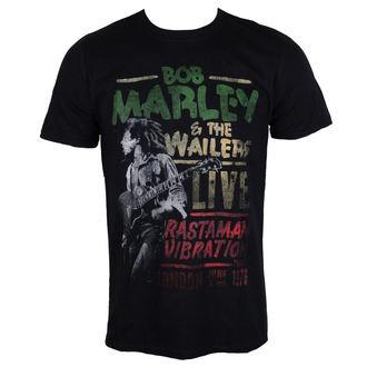 Herren T-Shirt Metal Bob Marley - Rastaman Vibration - ROCK OFF, ROCK OFF, Bob Marley