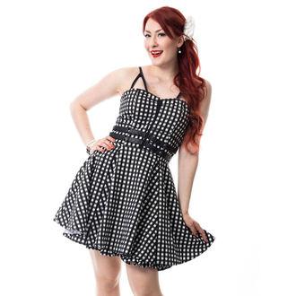 Damen Kleid RockaBella - KEIRA - SCHWARZ gingham, ROCKABELLA