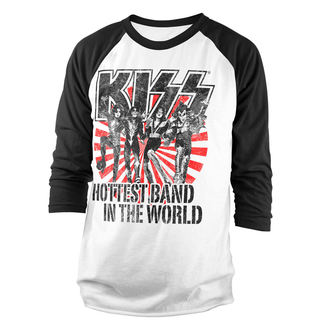 Herren Longsleeve Kiss - Hottest Band In The World - HYBRIS, HYBRIS, Kiss