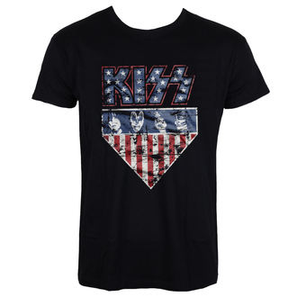 Herren T-Shirt Metal Kiss - Stars & Stripes - HYBRIS, HYBRIS, Kiss