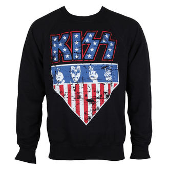 Herren Sweatshirt Kiss - Stars & Stripes - HYBRIS, HYBRIS, Kiss