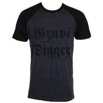 Herren T-Shirt Metal Grave Digger - Charcoal / Schwarz -, NNM, Grave Digger