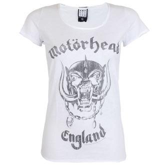 Damen T-Shirt Metal MOTORHEAD - ENGLAND - AMPLIFIED - WEISS, AMPLIFIED, Motörhead